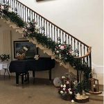 Grand Staircase Floral Decoration