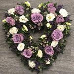 Purple empty heart wreath