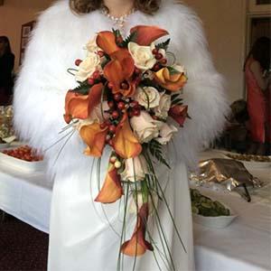Bridal Bouquet Orange Lilies