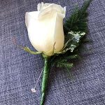 White Rose Button Hole