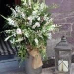 Wedding Flowers Milk Churn Entrance Flowers