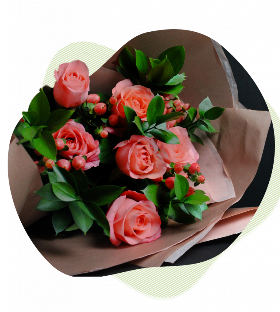 Peach Roses from Posies of Clevedon