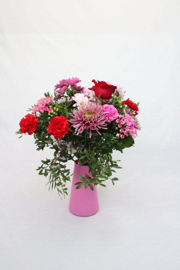 Posies of Clevedon Flower Bag Bouquet in Vase