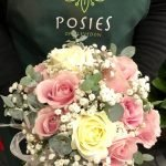Blush pink and white bridal bouquet from Posies of Clevedon