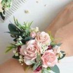 Blush Pink Wedding Corsage