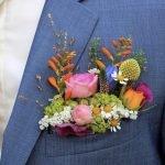 Wedding Flowers Wild Flower Pocket Square Arrangement