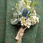 Winter Wedding Flowers, Thistle and twine Button Hole