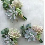 Wedding Button Holes with eucalyptus and succulents